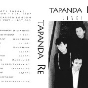 Flyer for gigs at Chats Palace and the Rock Garden, London, illustrate by black and white photos of the three women in Tapanda Re.