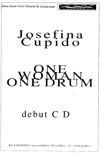 Poster for Josefina's CD 'One Woman One Drum'