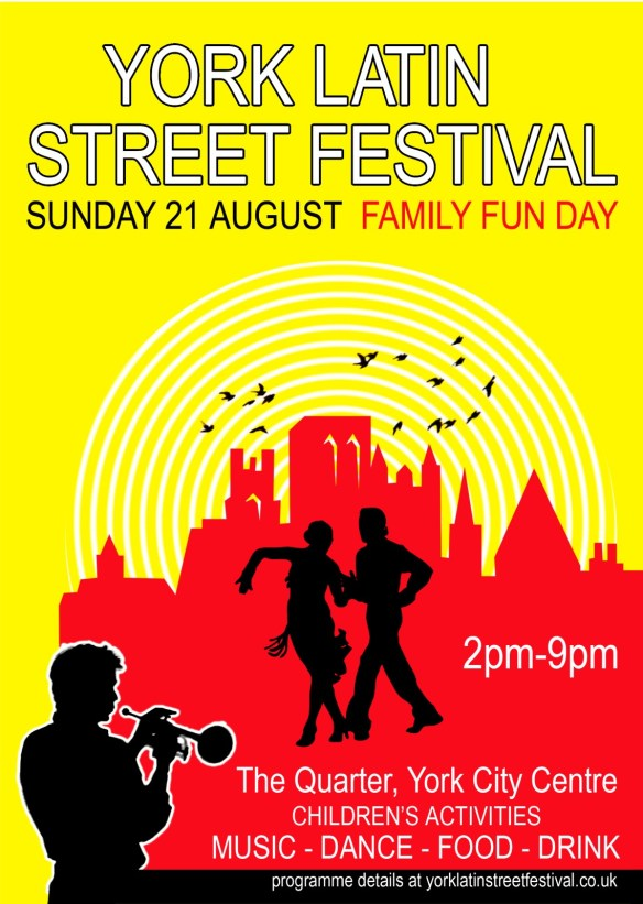 Flier for the York Latin Street Festival Aug 21 2011