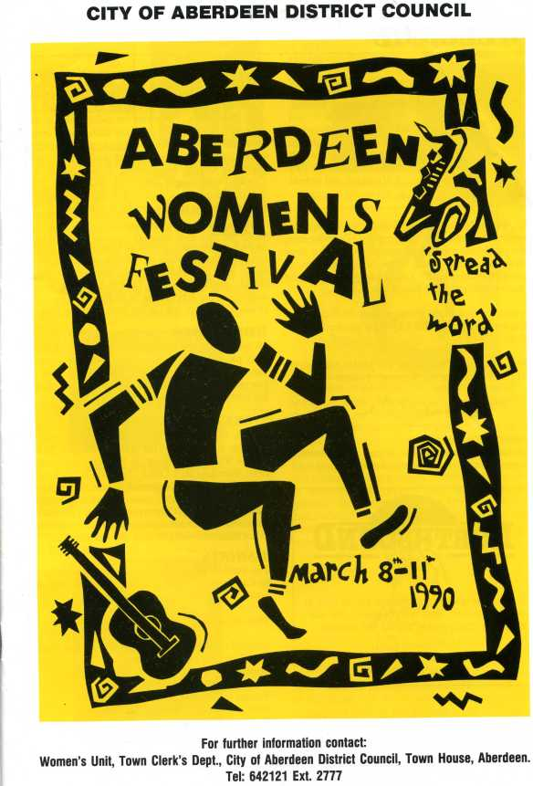 Aberdeen Women'S festival poster IWD 1990